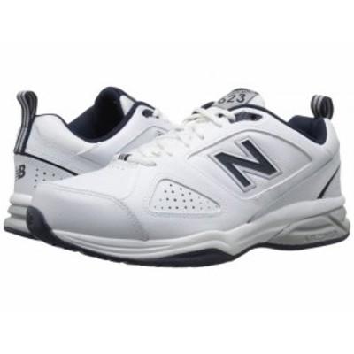 New Balance ニューバランス メンズ 男性用 シューズ 靴 スニーカー 運動靴 623v3 White/Navy【送料無料】