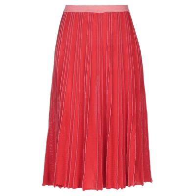CHIARA BERTANI 7分丈スカート レッド M コットン 88% / レーヨン 8% / 金属繊維 2% / ポリエステル 2% 7分丈ス