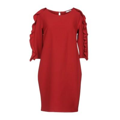 レリッシュ RELISH ミニワンピース&ドレス レッド 38 88% ポリエステル 12% ポリウレタン ミニワンピース&ドレス