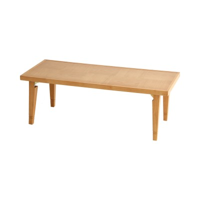 天然木の折りたたみリビングテーブル<幅93cm>