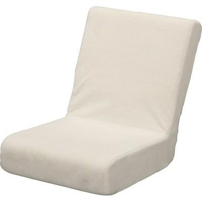 アイリスオーヤマ 座椅子 & 枕 2way ふわふわ フロアチェア コンパクト 折りたたみ 収納 ベ