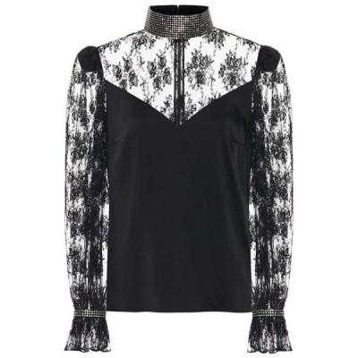 クリストファー ケイン Christopher Kane レディース ブラウス・シャツ トップス embellished lace blouse Black