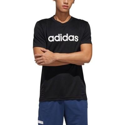 アディダス シャツ トップス メンズ adidas Men's Designed 2 Move Logo Training T-shirt Black/White