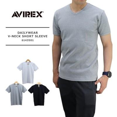 AVIREX(アビレックス) MENS DAILYWEAR VNECK SHORT SLEEVE / メンズ 半袖 無地 Vネック Tシャツ 6143501