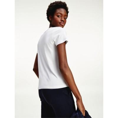 トミー ヒルフィガー Tommy Hilfiger レディース Tシャツ トップス Essential T Shirt WHITE YBR