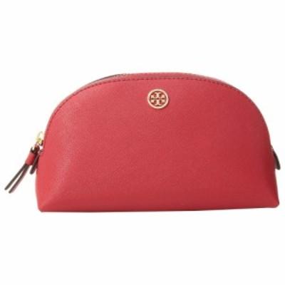 トリー バーチ Tory Burch レディース ポーチ Robinson Small Makeup Bag Brilliant Red