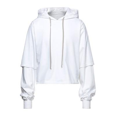 ダークシャドウ バイ リック オウエンス DRKSHDW by RICK OWENS スウェットシャツ ホワイト S コットン 100% スウェット