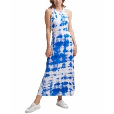 カルバンクライン レディース ワンピース トップス Tie-Dyed Maxi Dress Klein Blue Multi