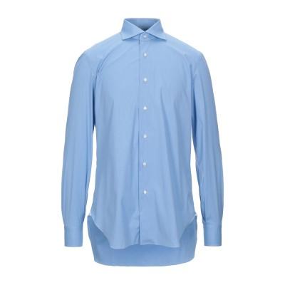 BARBA Napoli シャツ アジュールブルー 42 コットン 74% / ナイロン 23% / ポリウレタン 3% シャツ