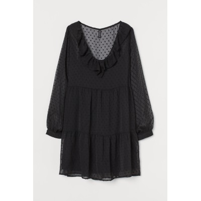 H&M - ショートワンピース - ブラック