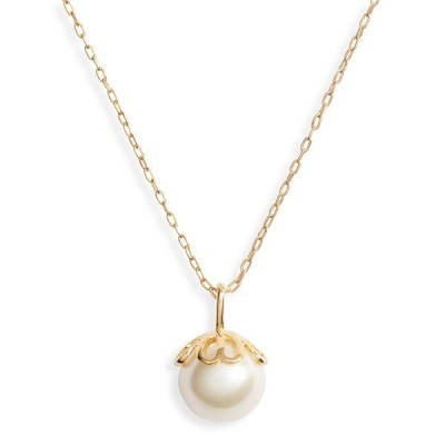 """ケイトスペード ネックレス Kate Spade  Mini Pearlette Pendant Necklace, 16"""" (Gold) ミニ パール ペンダント ネックレス (ゴールド)"""