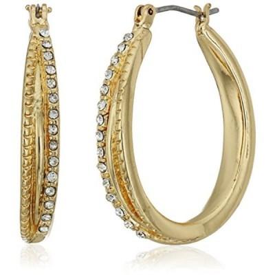 ネーピア イヤリング Napier Gold-Tone Click-It Hoop Earrings