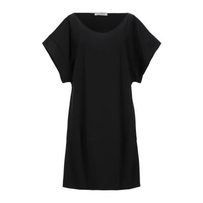 PAOLO CASALINI ミニワンピース&ドレス ブラック S レーヨン 58% / ポリエステル 35% / ポリウレタン 7% ミニワンピー