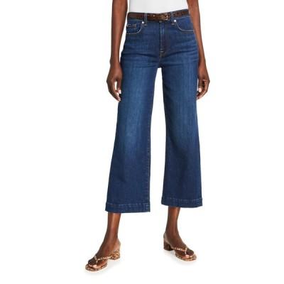 セブンフォーオールマンカインド レディース デニムパンツ ボトムス Alexa High-Rise Cropped Wide-Leg Jeans