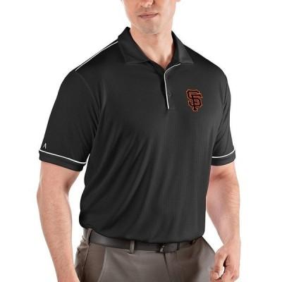 アンティグア メンズ ポロシャツ トップス MLB National League Salute Short-Sleeve Polo Shirt San Francisco Giants Black