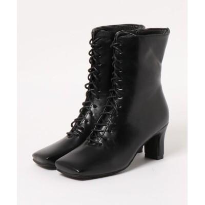 SVEC / スクエアトゥ レースアップ ヒール ブーツ / ドレスブーツ WOMEN シューズ > ブーツ