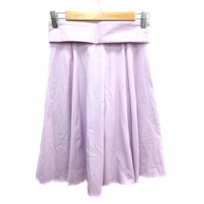 【中古】ミッシュマッシュ MISCH MASCH スカート フレア ひざ丈 S 紫 パープル /YK レディース