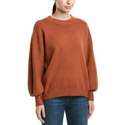 Allison  ファッション トップス Allison New York Bishop Sleeve Pullover M Orange