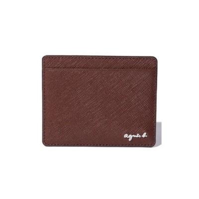 アニエスべー カードケース ブラウン agnes b