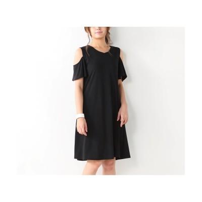大きいサイズ 肩あきワンピース ,スマイルランド, ワンピース, plus size dress