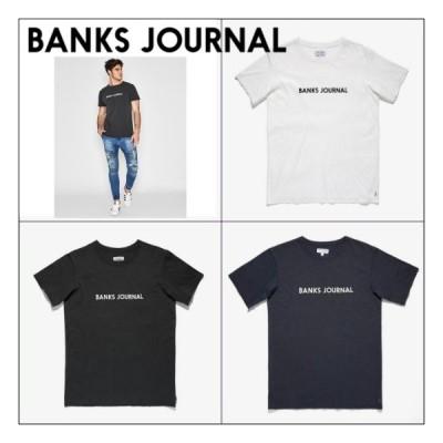バンクス ロゴ 半袖 Tシャツ BANKS JOURNAL LABEL STAPLE TEE