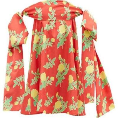 ベルナデッタ Bernadette レディース パーティードレス ミニ丈 ワンピース・ドレス Holly off-the-shoulder floral-print mini dress Red