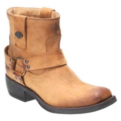 ハーレーダビッドソン レディース ブーツ&レインブーツ シューズ Abbington Motorcycle Boot Tan Full Grain Leather