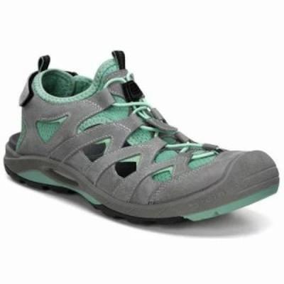 エコー サンダル・ミュール Biom Delta Offroad Sandals Titanium/Granite Green