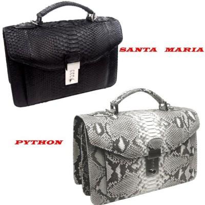 パイソン セカンド バッグ 蛇革 メンズ 手提げ Santa Maria サンタマリア製