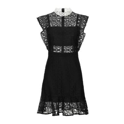 SANDRO ミニワンピース&ドレス ブラック 36 ポリエステル 100% / コットン ミニワンピース&ドレス