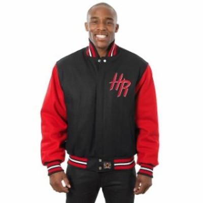 JH Design ジェイエイチ デザイン スポーツ用品  JH Design Houston Rockets Black Domestic Two-Tone Wool Jacket