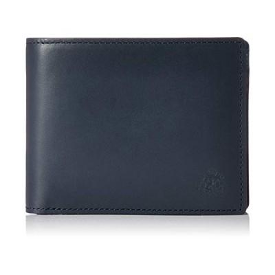 ドゥベージュ Soie(ソワ) 小銭入れ付き折り財布 DGMW8HS2 ネイビー