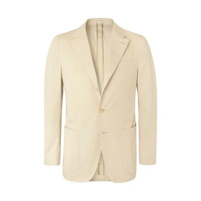カルーゾ CARUSO テーラードジャケット ベージュ 46 コットン 97% / ポリウレタン 3% テーラードジャケット