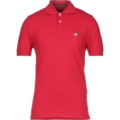 モスキーノ LOVE MOSCHINO メンズ ポロシャツ トップス polo shirt Red
