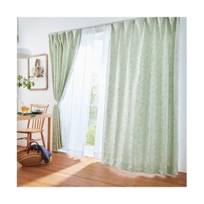 光沢が上品なリーフ柄遮光カーテン&レースセット カーテン&レースセット, Curtains, sheer curtains, net curtains(ニッセン、nissen)