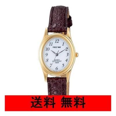 [シチズン Q&Q] 腕時計 アナログ ソーラー 防水 革ベルト AA95-9917 レディース ホワイト × ブラウン