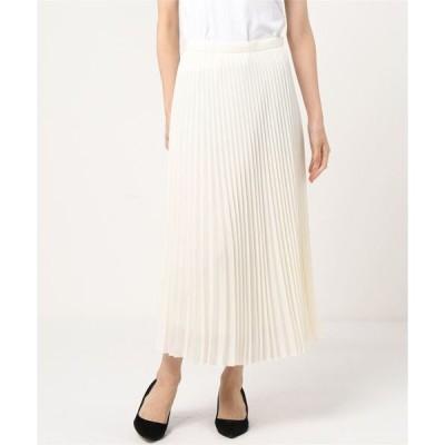 スカート Demi-Luxe BEAMS / トリアセ プリーツスカート