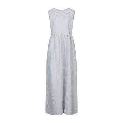 STEFANEL ロングワンピース&ドレス グレー 42 コットン 60% / ポリエステル 40% ロングワンピース&ドレス
