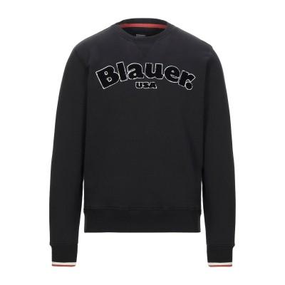 ブラウアー BLAUER スウェットシャツ ブラック S コットン 100% スウェットシャツ