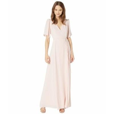 ワイフ レディース ワンピース トップス The Aurelia Short Sleeve Wrap Gown Ballet Pink