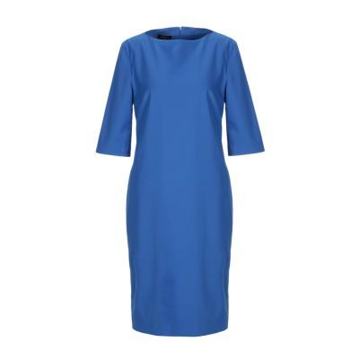 レ コパン LES COPAINS ミニワンピース&ドレス ブルー 40 コットン 63% / ナイロン 31% / ポリウレタン 6% ミニワンピ