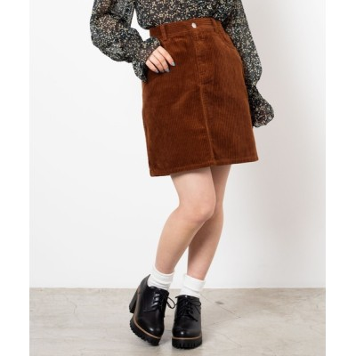 WEGO / WEGO/【セットアップ対応商品】コーデュロイタイトミニスカート WOMEN スカート > スカート