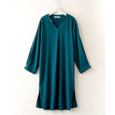 【大きいサイズ】 フロントタックカットソーワンピース【stairs】 ワンピース, plus size dress