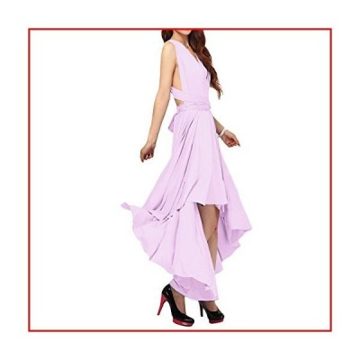【新品】Women's Flowy Transformer Convertible Multi Way Wrap Long Prom Maxi Dress V-Neck Hight Low Wedding Bridesmaid Evening Party Grec