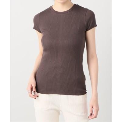 【エミリーウィーク/EMILY WEEK】 Organic Cotton ランダムリブ Tシャツ