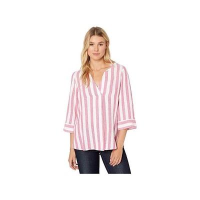 トミー バハマ Light Stripes Tunic 3u002F4 Sleeve レディース シャツ トップス Pink Ruffle