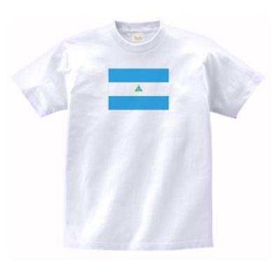 国 国旗 Tシャツ ニカラグア 白