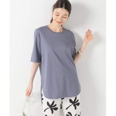 レディース イエナ 【ATON/エイトン】SUVIN ROUND HEM Tシャツ グレーA フリー