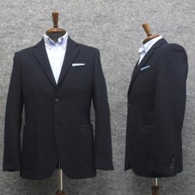 ニットジャケット 貼りポケット セミスタイリッシュ 紺/無地 [A体][AB体]兼用 秋冬物 WEJ301-3-PP