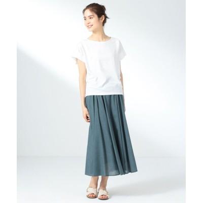 L size ONWARD(大きいサイズ) / 【優木まおみ着用】【シワになりにくい】シャンブレーライク スカート WOMEN スカート > スカート